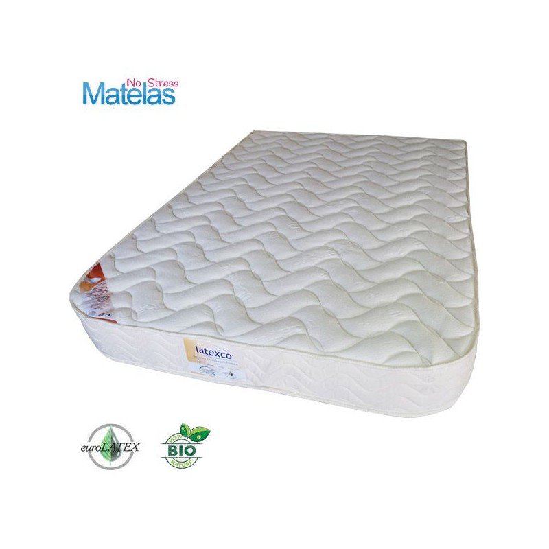 matelas demi corbeille 140x200 bio 100 latex naturel. Black Bedroom Furniture Sets. Home Design Ideas