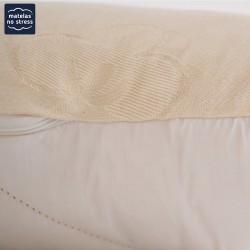 Le  coutil du Traversin plat 160 cm bio en latex naturel