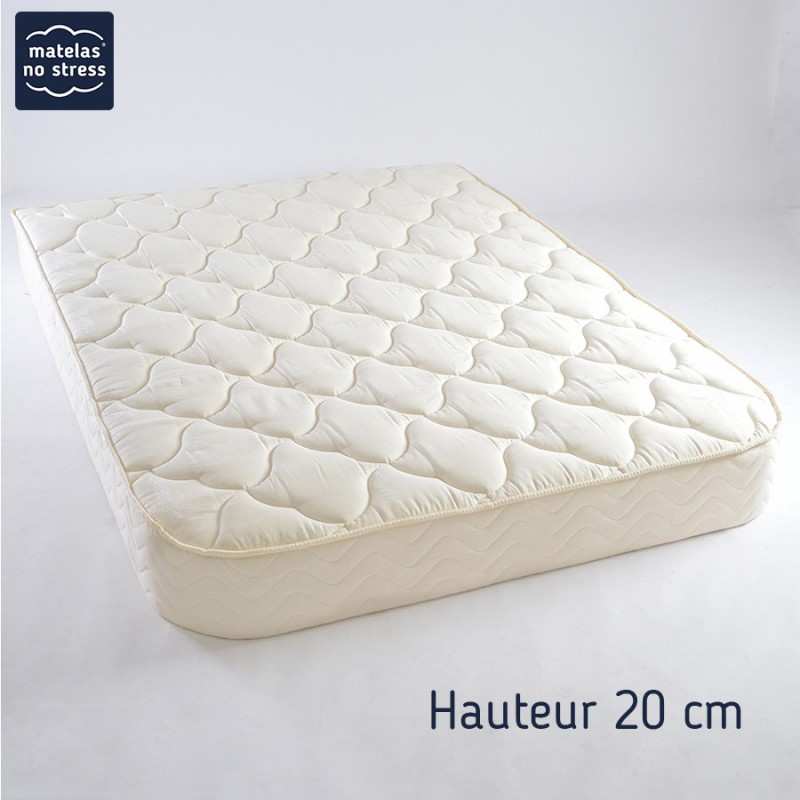 sommier tapissier demi corbeille 20 cm matelas no stress. Black Bedroom Furniture Sets. Home Design Ideas