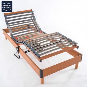 sommier cadre de lit une personne matelas no stress. Black Bedroom Furniture Sets. Home Design Ideas