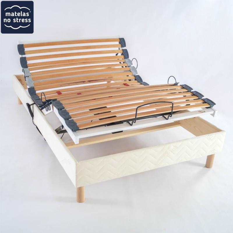 Sommier de Relaxation Electrique 100x220 literie King Size