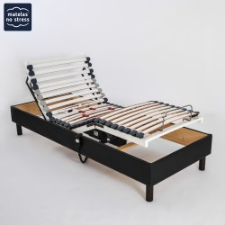 sommiers duo 2x70x190 matelas no stress. Black Bedroom Furniture Sets. Home Design Ideas
