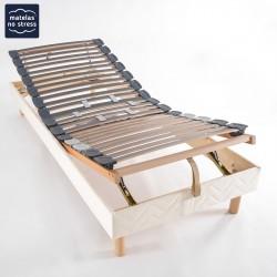 Sommier relaxation manuel en 2x80x190
