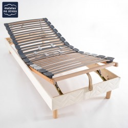 Sommier relaxation manuel 2x80x200