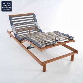 sommier electrique de relaxation matelas no stress. Black Bedroom Furniture Sets. Home Design Ideas