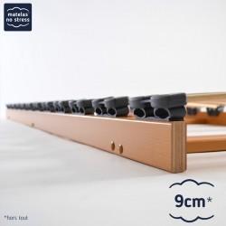 Sommier cadre plat encastrable pour lit 130x190
