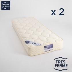 Matelas Latex 2x80x200 Ergo Form TRES FERME 21 cm