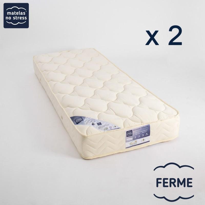 Matelas 2x90x200 Latex Ergo Form FERME 21 cm.
