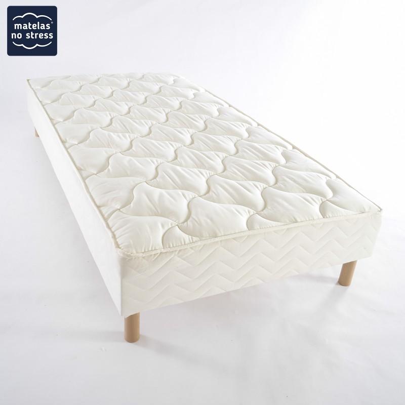 sommier tapissier luxe 80x200 matelas no stress. Black Bedroom Furniture Sets. Home Design Ideas
