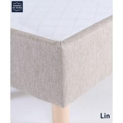 finition de notre sommier tapissier a lattes déco déco lin