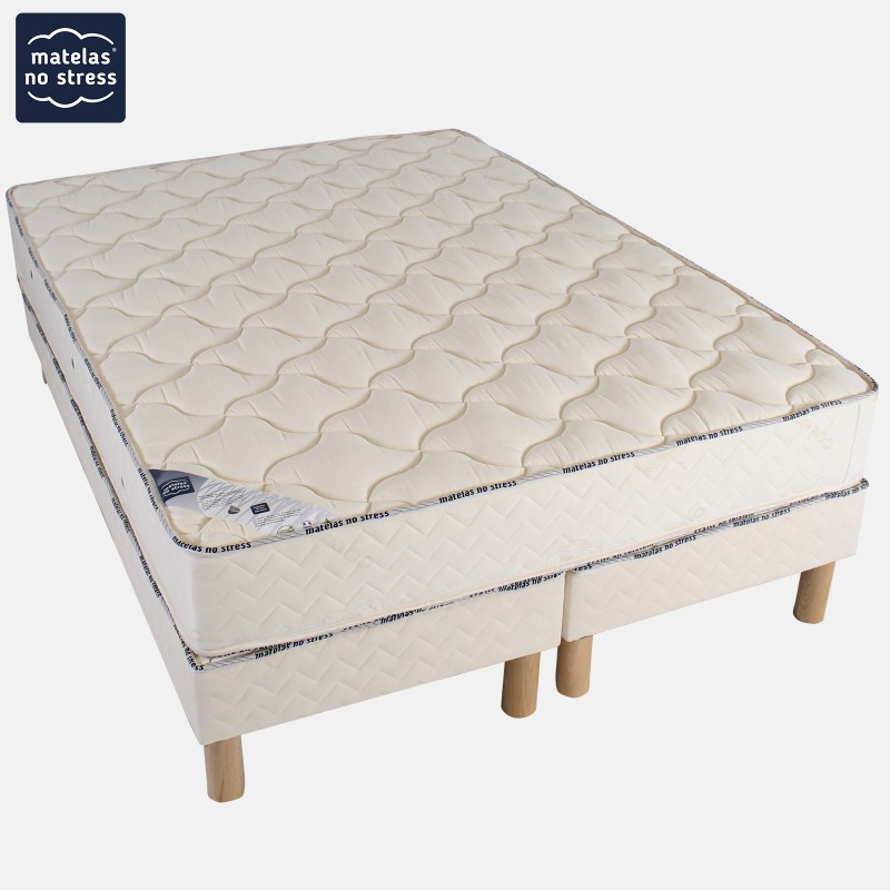 ensemble matelas latex ergo form ferme et son sommier