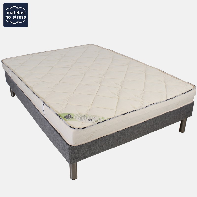 ensemble matelas latex naturel el gance son sommier antiglisse en promotion matelas no stress. Black Bedroom Furniture Sets. Home Design Ideas