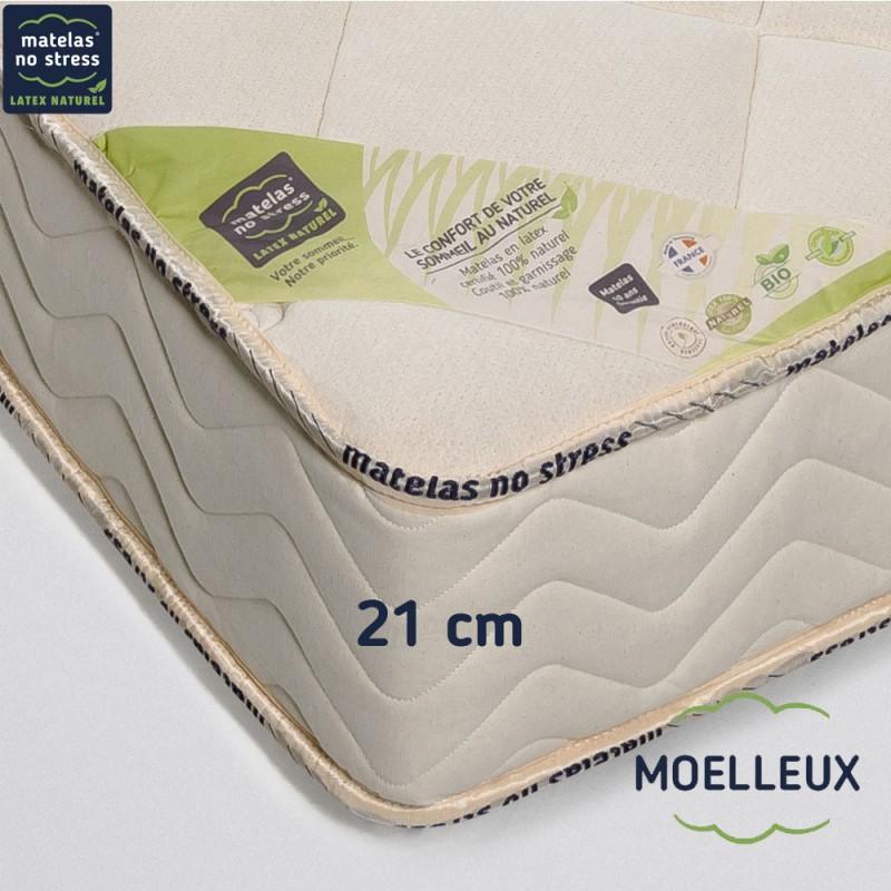 Matelas naturel 180x200 haut de gamme moelleux matelas no stress - Matelas latex naturel 180x200 ...