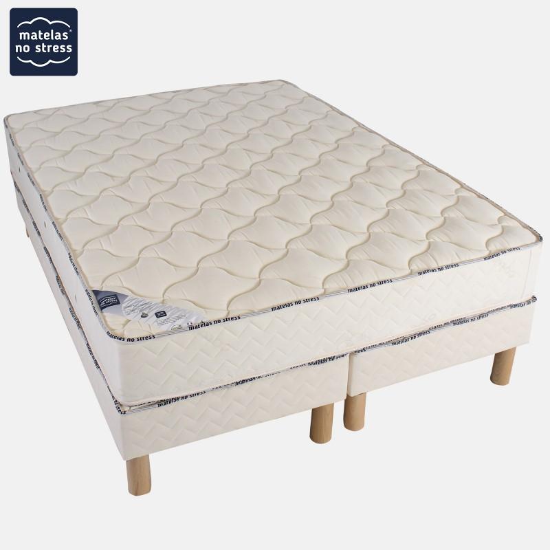 ensemble matelas latex souple et son sommier tapissier 140x190. Black Bedroom Furniture Sets. Home Design Ideas