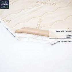 Composition de notre protège matelas bio 180x200