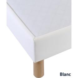 Finition de notre sommier blanc 140x200 tapissier