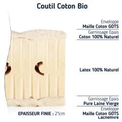 matelas 100 % latex naturel 140x190 BIO moelleux 7 zones de confort