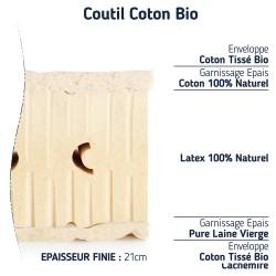 matelas 100 % latex naturel 140x190 BIO ferme 7 zones de confort