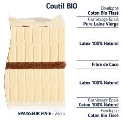 matelas 140x200 100 % latex naturel confort optimal