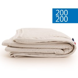 Couette été 200x200 naturelle en soie