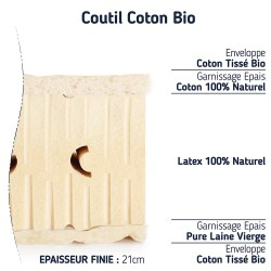 matelas latex naturel BIO ferme