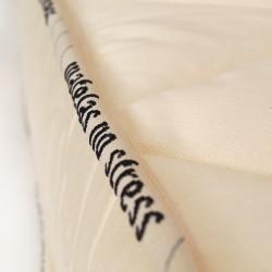 Matelas housse avec zip sur 3 côté, housse lavable, matelas bio latex et coton 2