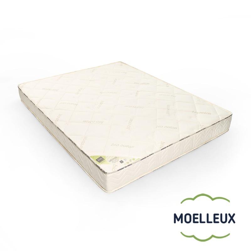 Le matelas 100 % latex naturel BIO moelleux 7 zones de confort 2 personnes