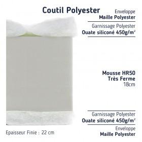coutil en polyester 200 gr de ouatine.