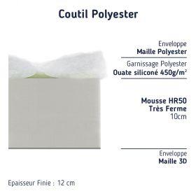 matelas lit d'appoint mousse très ferme épaisseur 12 cm