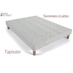 Sommier Tapissier 130x180 Lattes Fixes
