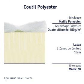 matelas pour lit tiroir 90x180 en Latex 12 cm