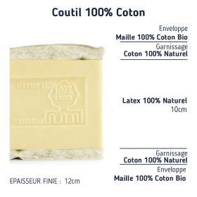 Matelas latex naturel pour lit tiroir 80x190