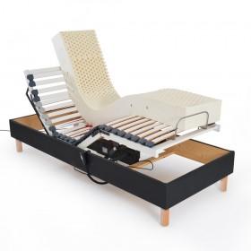 lit électrique à lattes, sans-matelas matelas pour 1 personne