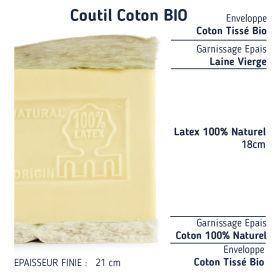 matelas 100% latex naturel 160x210 ferme haut de gamme