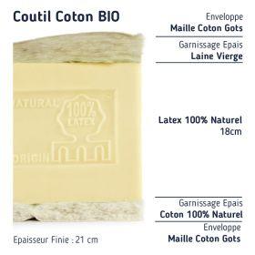 Le Matelas Haut de Gamme 100 % Latex Naturel demi corbeille 80+80x190