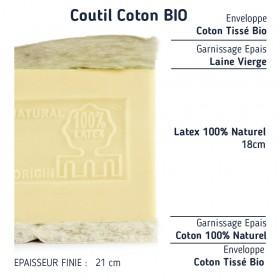 Le Matelas Haut de Gamme 100% Latex Naturel Demi-Corbeille 21cm