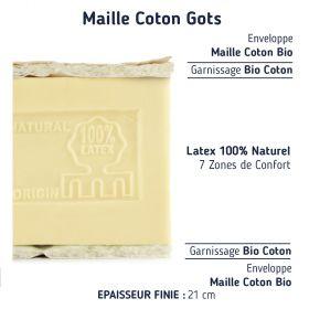 Le matelas végétal 100 % latex naturel 100+100200
