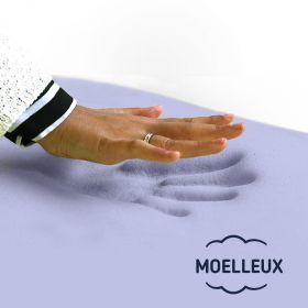 matelas 120x190 mémoire de forme moelleux latex ferme