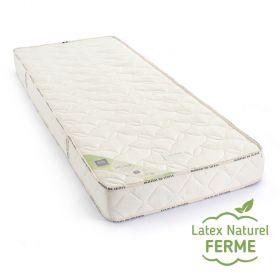 Matelas 100 % latex naturel BIO ferme 5 zones 18cm