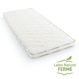 surmatelas en latex 100% naturel, pure laine vierge et coton bio, confort ferme, taille 120x200