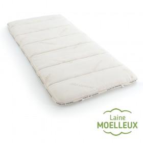 surmatelas en laine naturelle et au confort moelleux taille 120x200
