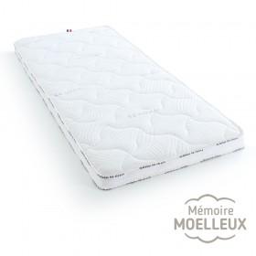 Surmatelas mousse mémoire de forme, confort moelleux, 120x200