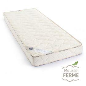 matelas 80x190 anti acarien, habillage en pure laine vierge et coton bio