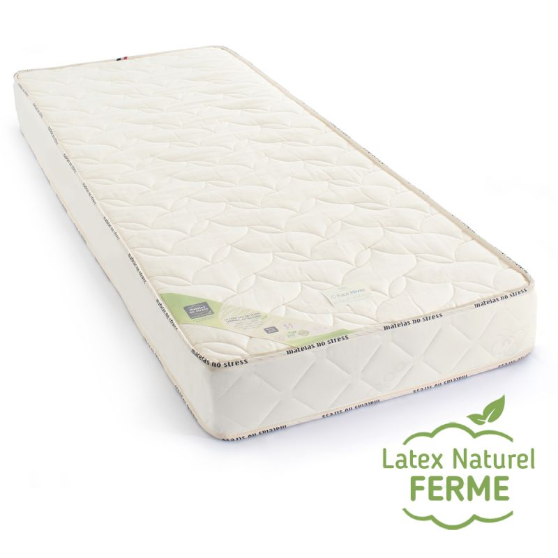 matelas 100% latex naturel 80x190 ferme, grand confort
