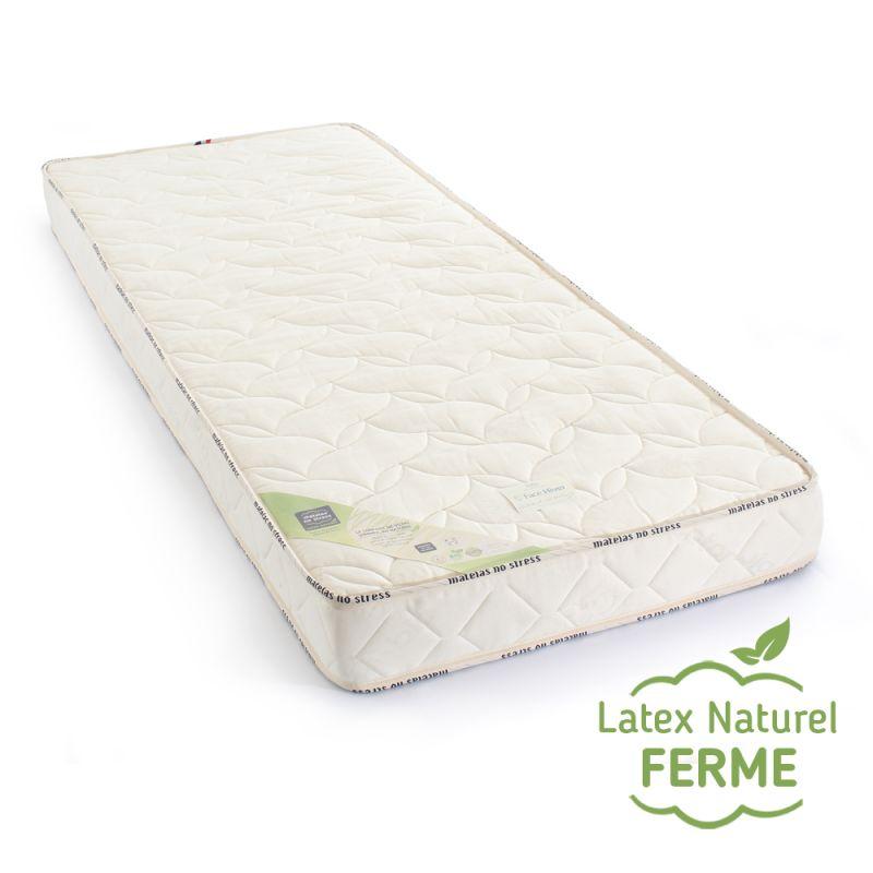 Matelas 100 % latex naturel 80x200 ferme grand confort