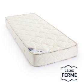 matelas latex 90x200cm, 5 zones de confort ferme