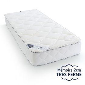 matelas 120x190 latex 5 zones de confort, très ferme, et mousse mémoire de forme moelleux