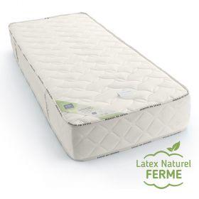 Matelas naturel en latex, confort optimal, en 120 x 200 cm