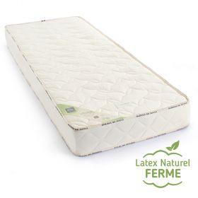 Matelas latex naturel 90x200 de confort ferme et bio