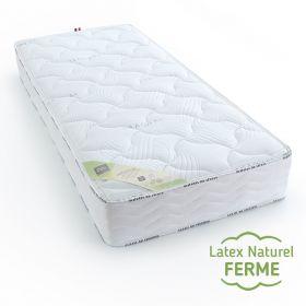Matelas 90x190 cm de confort 100% latex naturel ferme, éco responsable